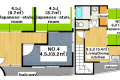 Entire room arrangement/ground plan 全体間取・平面図