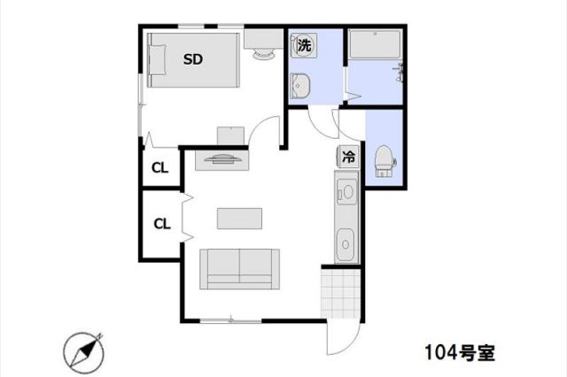 Entire room arrangement/ground plan 全体間取・平面図